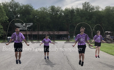 Photo by Michele JurystaThe Mars Stars Jump Rope Performance group performs Saturday during Adams Township Community Day.