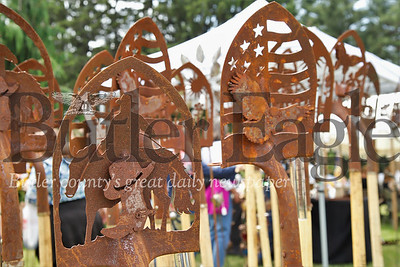 Garden shovel metalworks from The Rusty Bird at Whispering Pines Festival in the Woods Saturday. Seb Foltz/ Butler Eagle