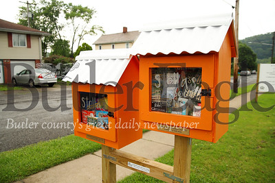 New book boxes in downtown Evans City, next to EDCO Park Pool. Seb Foltz/Butler Eagle