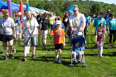 Cancer survivors, their friends and love ones were in North Boundary Park walking for Relay For Life Saturday. Seb Foltz/Butler Eagle