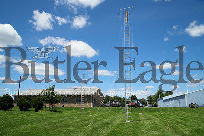 Two of four HAM radio antenna outside the Winfield Township municipal building. Seb Foltz/Butler Eagle