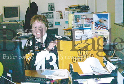 Nedra Sutch, classified ad and front office manager for the Butler Eagle, retired June 28, 2019. A Pittburgh Steeler fan, she worked for the Eagle for 34 years. Butler Eagle File photo