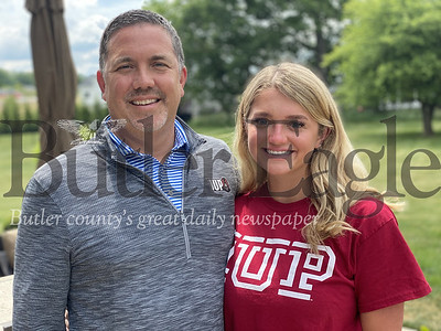 This is for the Fathers Day special section.  - photo 2 Matt Grill and his daughter, Meghan, have formed a strong bond through softball. Matt was a standout baseball player at Indiana (Pa.) University and now Meghan, a recent North Catholic graduate, will play softball at IUP. Mike Kilroy photos.