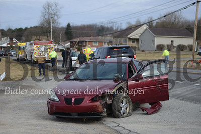 No injuries were reported in the crash. photos by Caleb Harshberger