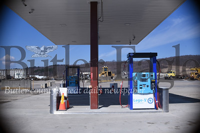 The compressed natural gas fueling station at Seneca Landfill fills up tanks with landfill gas, not gasoline. Tanner Cole/Butler Eagle