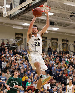 Butler's Ethan Morton goes for a dunk against Central Dauphin Saturday at North Allegheny. Butler topped Central Dauphin 93-90 in overtime. Seb Foltz/Butler Eagle