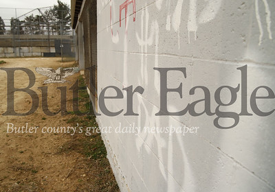 Graffiti on one of the dugout walls at Center Township's baseball fields. Sebastian Foltz/Butler Eagle