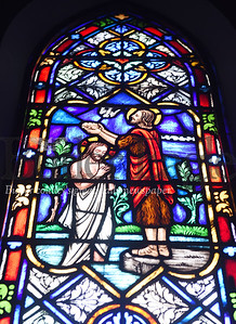 Harold Aughton/Butler Eagle: Stained glass windows in the Cabot United Methodist Church, 707 Winfield Rd, Cabot, PA 16023.