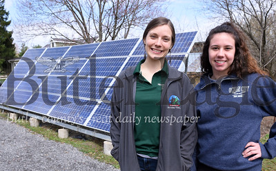 Harold Aughton/Butler Eagle: Interim Director of the Macoskey Center, Samantha Laurence (on left) and Rachel Forth, a senior at Slippery Rock University.