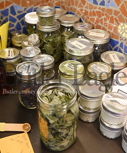Harold Aughton/Butler Eagle: Herbial tea leaves grown at he Macoskey Center at Slippery Rock University.