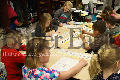 McQuistion Elementary first graders work on their Mother's Day letters. Seb Foltz/Butler Eagle