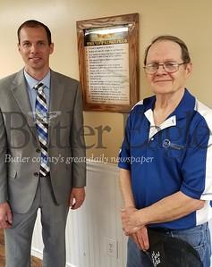 Rodney Dickman and Pastor Mark Wagner of Hannahstown Road Baptist Church