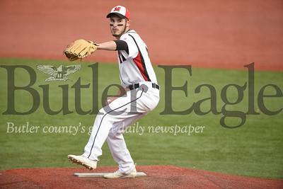 Moniteau starting pitcher Chance Nagy. Seb Foltz/Butler Eagle