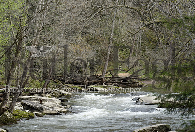 Harold Aughton/Butler Eagle: The rapids near Ekerts Bridge in McConnells Mill State Park.