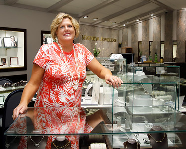 Shelly Mathew of Mathew Jewelers. Seb Foltz/Butler Eagle