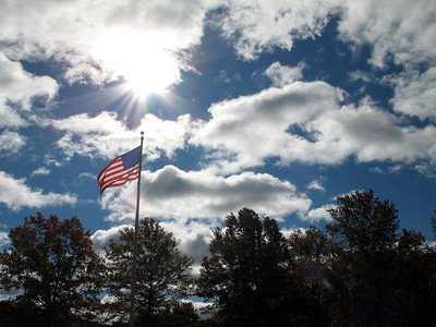 Ok fun light + clouds + american flag = Photo of the Day