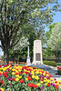"""Medal of Honor recipient Walter Edward Truemper and World War II memorials at Sunken Gardens, Aurora, Illinois"" - Daily Photo - 05/25/13<br /> <br /> Walter Edward Truemper (October 31, 1918 – February 20, 1944), Aurora, Illinois resident and veteran remembered for his sacrifice.  <br /> <br /> Truemper's official Medal of Honor citation reads:<br />  <br /> For conspicuous gallantry and intrepidity at risk of life above and beyond the call of duty in action against the enemy in connection with a bombing mission over enemy-occupied Europe on 20 February 1944. The aircraft on which 2d Lt. Truemper was serving as navigator was attacked by a squadron of enemy fighters with the result that the co-pilot was killed outright, the pilot wounded and rendered unconscious, the radio operator wounded and the plane severely damaged. Nevertheless, 2d Lt. Truemper and other members of the crew managed to right the plane and fly it back to their home station, where they contacted the control tower and reported the situation. 2d Lt. Truemper and the flight engineer volunteered to attempt to land the plane. Other members of the crew were ordered to jump, leaving 2d Lt. Truemper and the engineer aboard. After observing the distressed aircraft from another plane, 2d Lt. Truemper's commanding officer decided the damaged plane could not be landed by the inexperienced crew and ordered them to abandon it and parachute to safety. Demonstrating unsurpassed courage and heroism, 2d Lt. Truemper and the engineer replied that the pilot was still alive but could not be moved and that they would not desert him. They were then told to attempt a landing. After two unsuccessful efforts their plane crashed into an open field in a third attempt to land. 2d Lt. Truemper, the engineer, and the wounded pilot were killed."