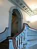 """Upstairs where some of the committee work was done"" - Daily Photo - 01/24/13<br /> <br /> Even ignoring the building's aspect as Independence Hall, it was architecturally interesting.  This stairwell caught my attention with the angles, colors and detailed woodwork.  Hope you enjoy!"