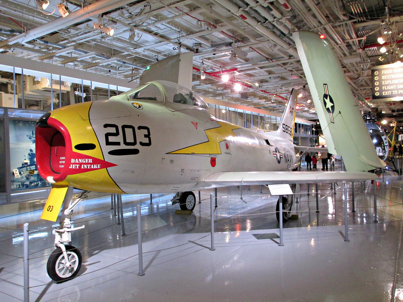 """Another shot of the FJ-3 aboard the USS Intrepid"" - Daily Photo - 06/19/13"