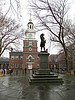 """Commodore Barry"" - Daily Photo - 01/29/13<br /> <br /> For whatever reason, this statue is one of my few memories of going to Independence Hall as a child.  It has been far too long a separation!<br /> <br /> Taken from the following: <a href=""http://www.ushistory.org/people/commodorebarry.htm"">http://www.ushistory.org/people/commodorebarry.htm</a><br /> <br /> Commodore Barry<br /> (1745-1803)<br /> ""Father of the American Navy""<br /> by John Barry Kelly<br /> <br /> Statue of Commodore Barry standing in Independence Square, on the south side of Independence Hall<br /> Few Americans are well-acquainted with the gallantry and heroic exploits of Philadelphia's Irish-born naval commander, Commodore John Barry. Obscured by his contemporary, naval commander John Paul Jones, Barry remains to this day an unsung hero of the young American Republic. As most naval historians note, Barry can be classed on a par with Jones for nautical skill and daring, but he exceeds him in the length of service (17 years) to his adopted country and his fidelity to the nurturing of a permanent American Navy. Indeed, Barry deserves the proud epithet, ""Father of the American Navy,"" a title bestowed on him not by current generations of admirers, but by his contemporaries, who were in the best position to judge.<br /> <br /> In the space of 58 years, this son of a poor Irish farmer rose from humble cabin boy to senior commander of the entire United States fleet. Intrepid In battle, he was humane to his men as well as adversaries and prisoners. Barry's war contributions are unparalleled: he was the first to capture a British war vessel on the high seas; he captured two British ships after being severely wounded in a ferocious sea battle; he quelled three mutinies; he fought on land at the Battles of Trenton and Princeton; he captured over 20 ships including an armed British schooner in the lower Delaware; he authored a Signal Book which established a set of signals used for effective communication between ships; and he fought the last naval battle of the American Revolution aboard the frigate Alliance in 1783."