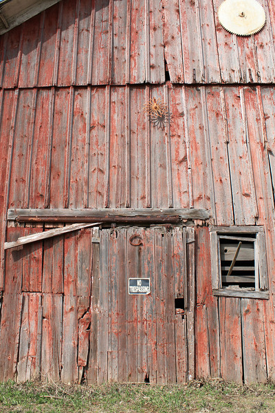 """""""Tempted to just walk right in"""" - Daily Photo - 05/23/13<br /> <br /> The front of yesterday's barn, DeKalb, Illinois."""