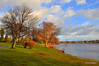 The eastern shore of Lake Quannapowitt, Wakefield, MA<br /> 12/4/09