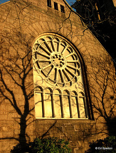 The last of the sun on the First Baptist Church 12/1/09