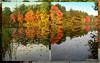 Quarter Mile Pond in autumn<br /> 10/22/09<br /> <br /> Best viewed X2