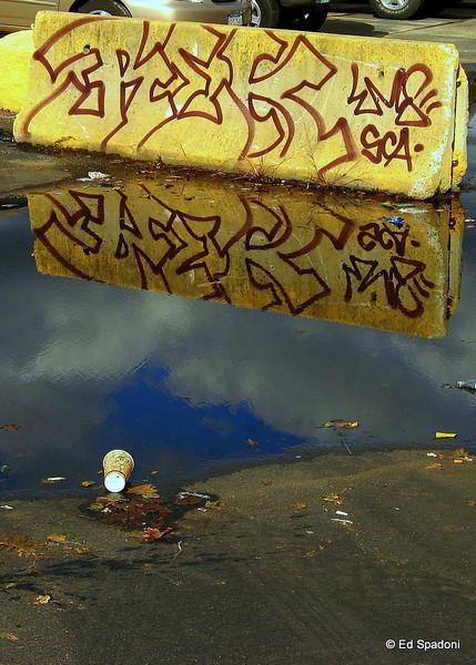 Graffiti, reflected<br /> 10/7/09