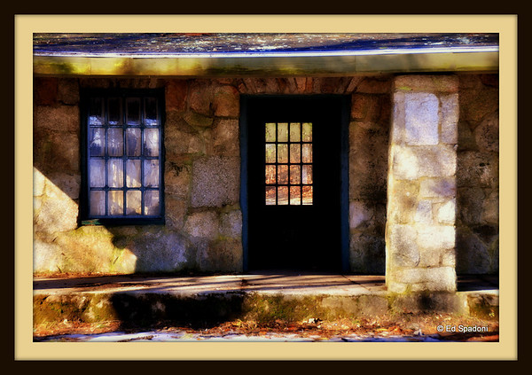 3/18/2011 The Lodge  Found on the grounds of the Ames Mansion, processed with the Orton effect and framed in Picnik.