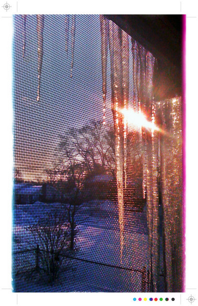 Through and through<br /> 1/29/2011<br /> Through the ice, through the screen, through the window, and through the lens of an iPhone, the beauty of this day still shines.