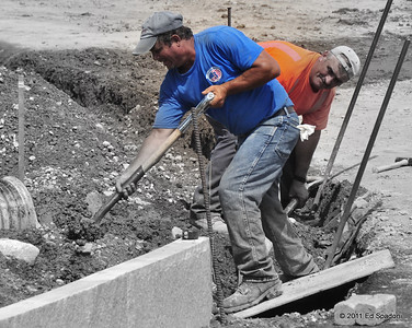 "Men at work POTD 8/24/2011  ""Far and away the best prize that life offers is the chance to work hard at work worth doing.""   Theodore Roosevelt"