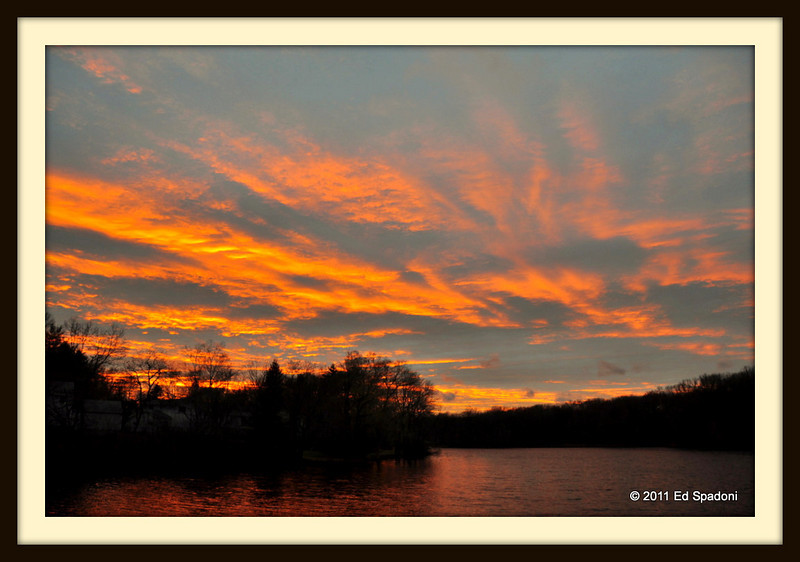 Sunset on Ellis Pond<br /> POTD 4/13/2011