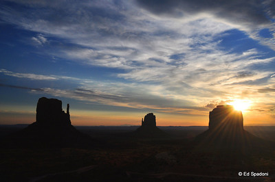 Monument Valley, Sunburst on Merrick's Butte