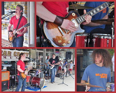 Street band, Dover, NH POTD 8/15/2011  These lads played some of the true standards of Rock and Roll and played them well.  I regret that I didn't get their name.