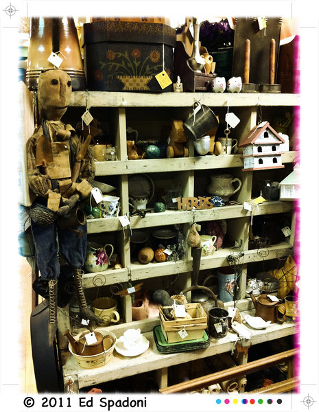 More discoveries in the vintage shop (Can you spot the herbs?)<br /> POTD 8/10/2011<br /> Thanks for all the comments on yesterday's vintage shop image. This was taken and processed using the iPhone app Camera+.