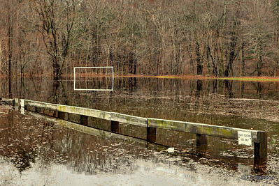 Youth soccer has been canceled, indefinitely! 4/2/2010 View XL+ to fully appreciate This is Greenwood Park, which I had previously shown on March 20,  which followed the first heavy rainstorm.  The water was starting to recede until the latest rains this week.    For more waterlogged images from the park, please visit here:  http://bit.ly/bsd6Bu