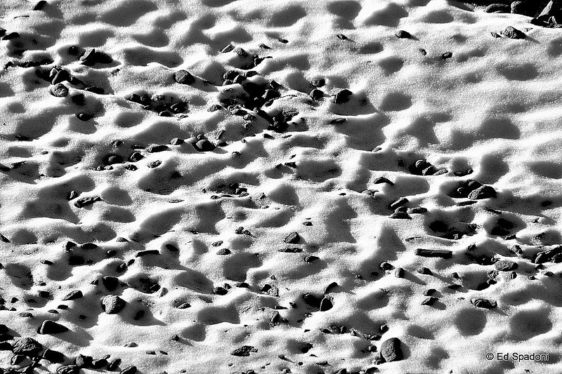 Snowy beach?<br /> 2/13/2010<br /> ...or the roof of my building at sunset?