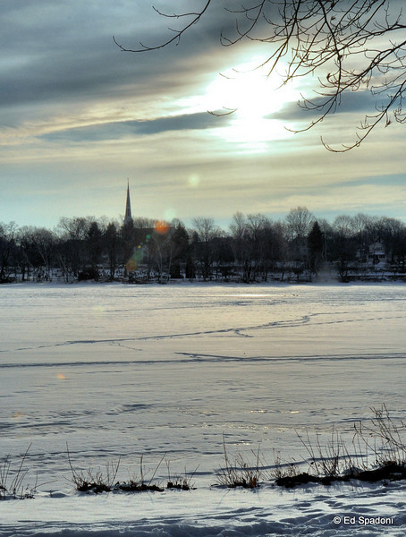 """""""There is still vitality under the winter snow, even though to the casual eye it seems to be dead""""  <br /> Agnes Sligh Turnbull<br /> 1/16/2010<br /> Lake Quannapowitt"""