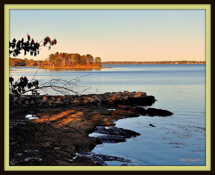 View from Winslow Memorial Park, South Freeport, ME<br /> 2/28/2010<br /> (Frame via Picnik.com - first time using it - cool!)