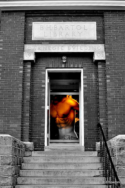 Don't judge a book by it's cover...<br /> or a library by it's exterior!<br /> 2/26/2010<br /> (Actually it's an Abercrombie & Fitch outlet store, Freeport, ME)