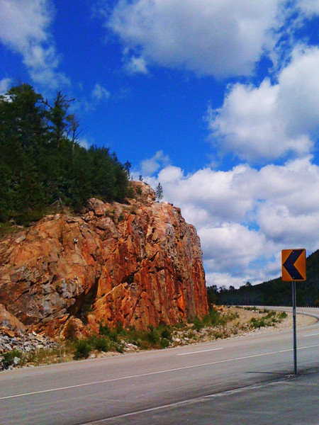 """Take a left at the big rock.""<br /> 8/1/2010<br /> Pinkham Notch, NH<br /> iPhone 3G"