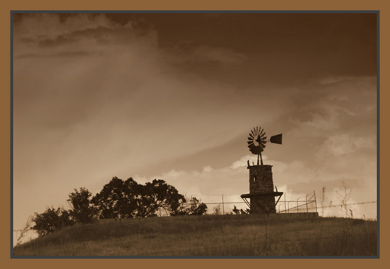 August 16, 2009<br /> <br /> This Windmill is located in Highlands Ranch, Colorado.  It's a popular landmark in Highlands Ranch.  It's owned by Shea Homes, it's private, they do weddings there.