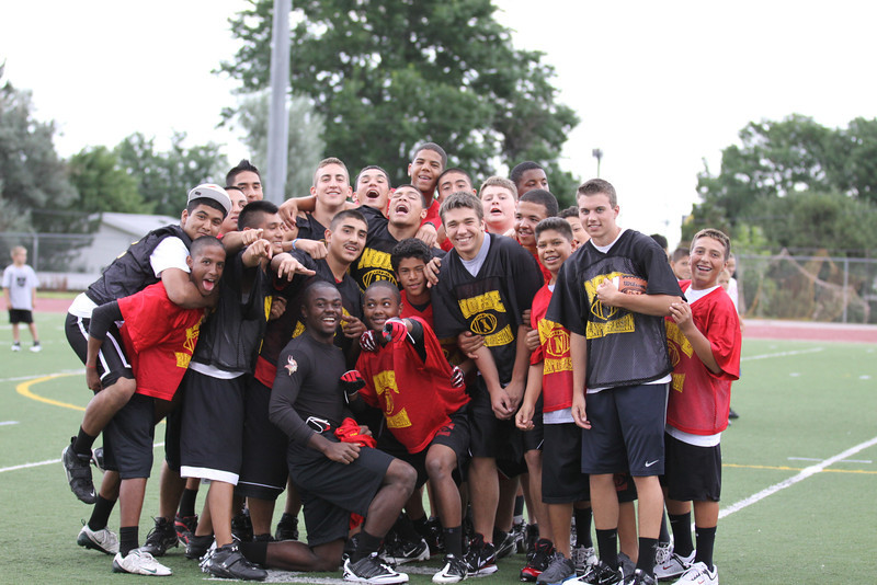 July 28, 2011<br /> <br /> Some of the football gang that was helping the Youth Football Camp