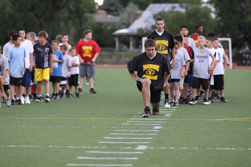 July 27, 2011<br /> <br /> Alex and Brady leaders at the Youth Football Camp