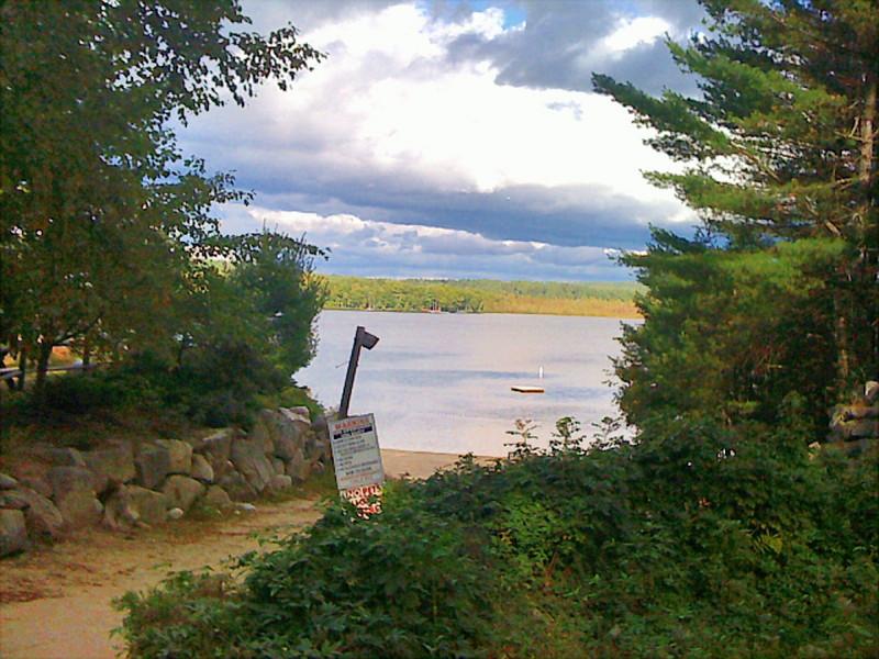 Path to Crescemt Lake, Raymond Me., via iphone, 9/18/09