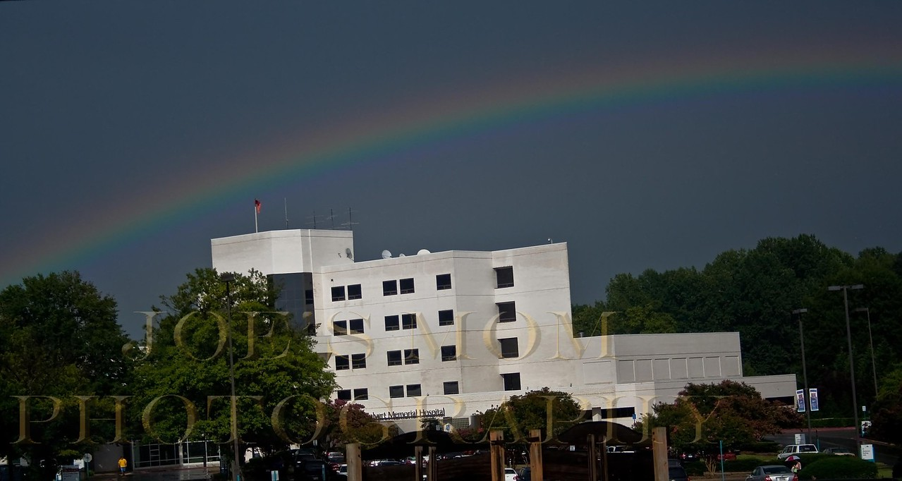 If you are in a hospital with a rainbow over it....what does that mean?