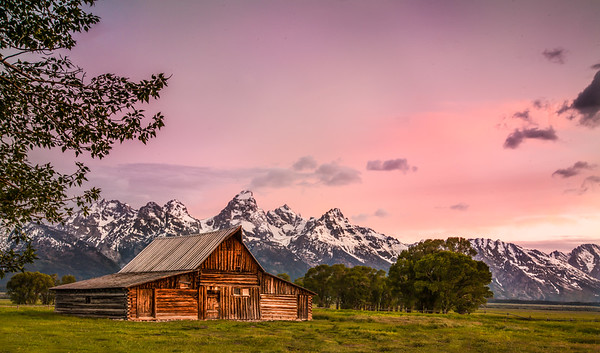 July 3 - Moulton Barn #2<br /> <br /> Here is another of the Moulton barns in Jackson Hole, Wyoming.  I don't think it's photographed as much as the other one that I posted on June 22, but it is still photographed often!  This image was taken as the sun was just rising.