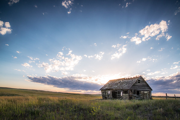 July 12 - Once Upon A Time<br /> <br /> Image taken as the sun was setting in North Dakota