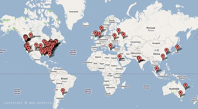 Map of visitors to my daily pic gallery...  Back to today's pic...